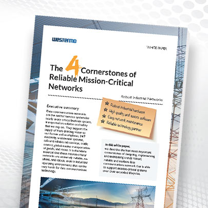 Whitepaper on the 4 cornerstones of reliable mission-critical networks.