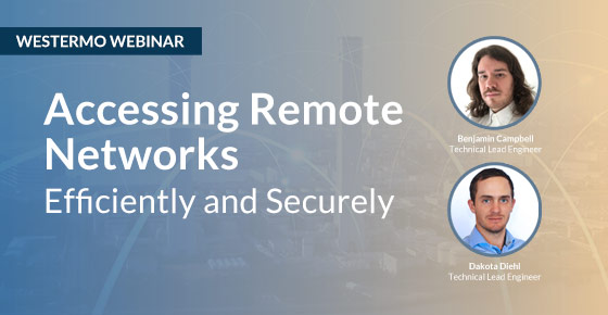 Remote access webinar by Westermo.