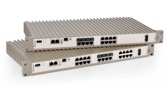 Westermo Industrial rack mounted Ethernet switches with routing and firewall.