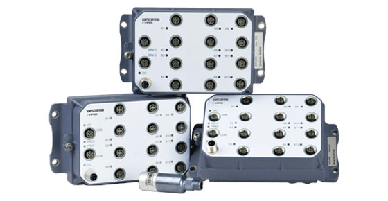 Westermo Viper series of rugged Ethernet switches for train networks.