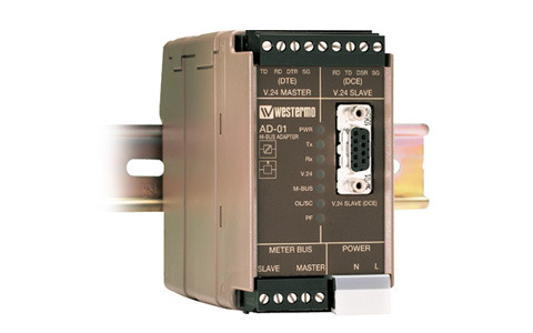 Industrial Serial Converter between RS-232 and M-Bus by Westermo.