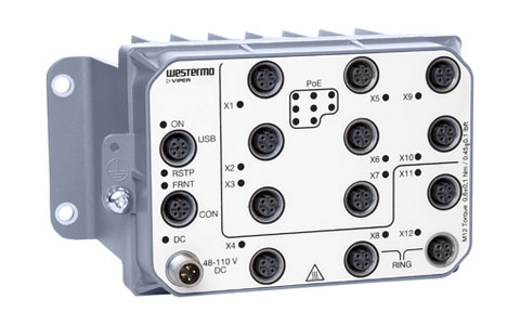 Managed PoE Routing Switch EN 50155 Westermo Viper-212A-P8-HV.